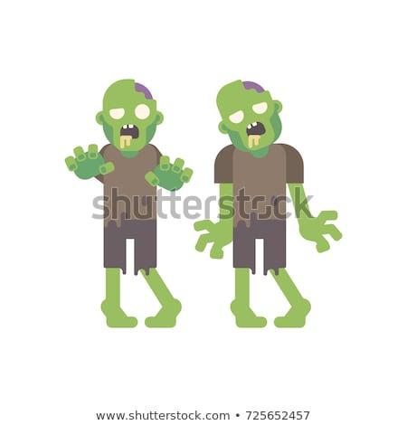 aç · karikatür · zombi · örnek · bakıyor · adam - stok fotoğraf © robuart