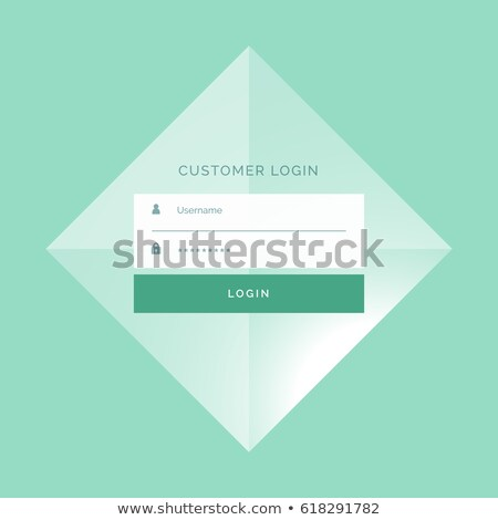 Foto stock: Awesome Login Form Template Design Background