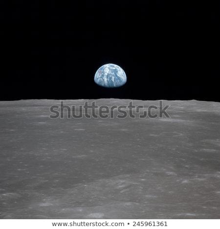 Ziemi księżyc horyzoncie planety Ziemi częściowo Zdjęcia stock © Noedelhap