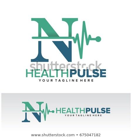Abstract medische gezondheidszorg hartslag vorm moleculen Stockfoto © SArts