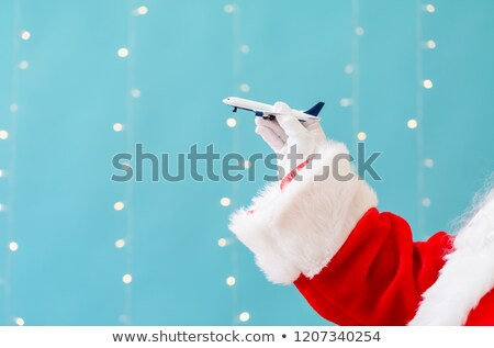 Santa Claus on airplane Stock photo © adrenalina