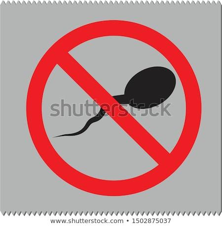 Sperm prezervatif vektör ikon örnek stil Stok fotoğraf © ahasoft