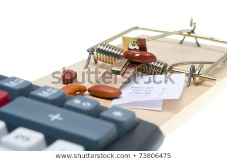 Macchina mouse trappola bean counter contabili Foto d'archivio © Qingwa
