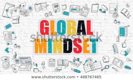 Global Mindset in Multicolor. Doodle Design. Stock photo © tashatuvango