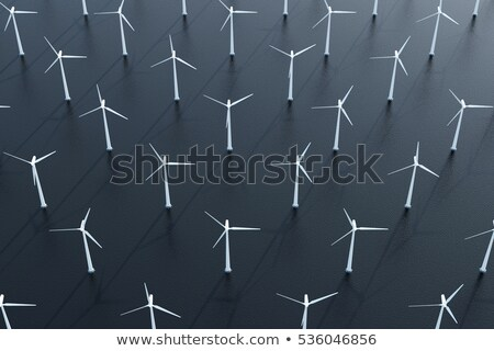 Top view of modern windmill Stock photo © dash