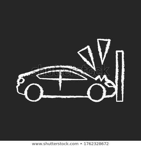 Vehicle Insurance Concept. Doodle Icons on Chalkboard. Stock photo © tashatuvango