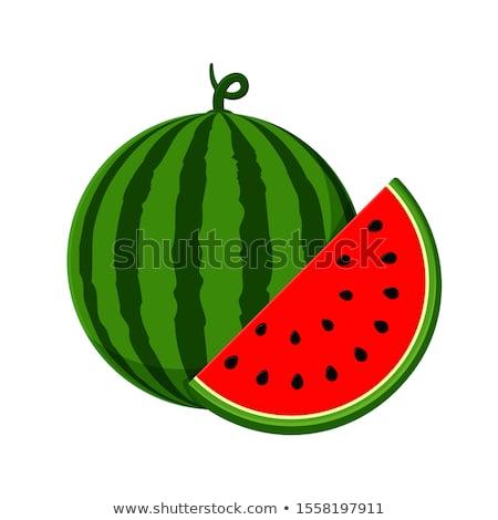 Rajz görögdinnye ikon darab magok sziluett Stock fotó © Olena