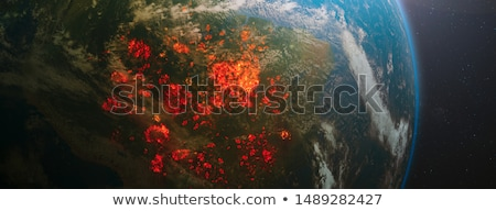 forest destroyed by fire or global warming stock photo © rastudio