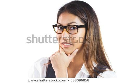 Sorridere imprenditrice mento bianco Foto d'archivio © wavebreak_media
