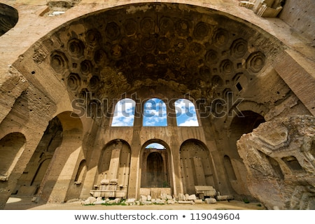 the basilica of constantine and maxentius in the roman forum stock photo © ankarb