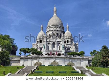 Bazilika nyár nap Párizs Franciaország augusztus Stock fotó © hsfelix