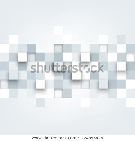 Squared Tiles 3D Pattern Banner Stock photo © make