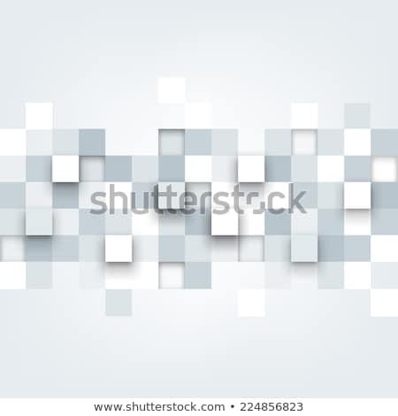 Piastrelle 3D pattern banner blu casuale Foto d'archivio © make