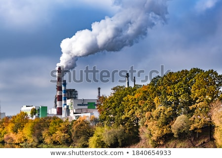 Industrial landscape. Plant emissions into river. Environmental  Stock photo © MaryValery