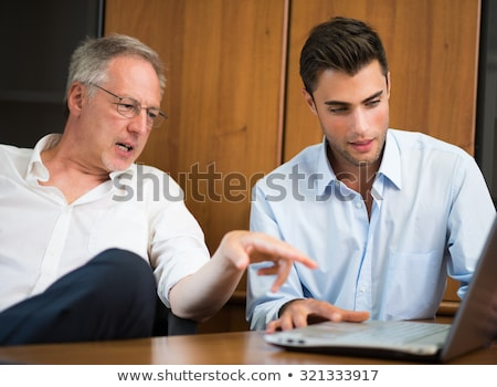 Stockfoto: Two Businessmen Talking In Nature