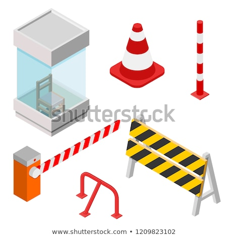 Under construction road sign in 3D isometric style, vector illustration. Stock photo © kup1984