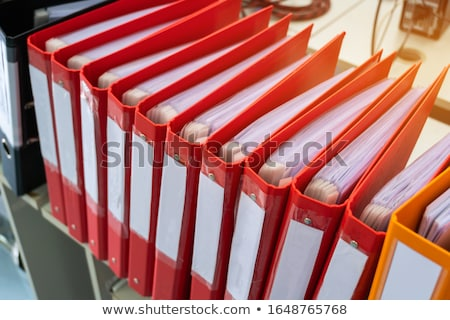 folders with the label training and education stock photo © zerbor