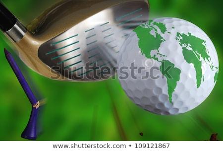 ゴルフ · 地球 · 惑星 · ゴルフボール - ストックフォト © rastudio