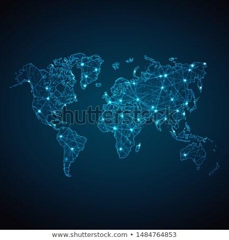 Terre monde battant carte du monde blanche particules Photo stock © RAStudio