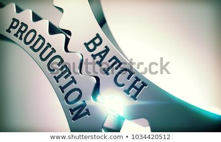 Produção mecanismo brilhante metal roda dentada Foto stock © tashatuvango