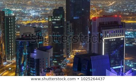 Cidade linha do horizonte árabe urbano cityscape Catar Foto stock © Terriana