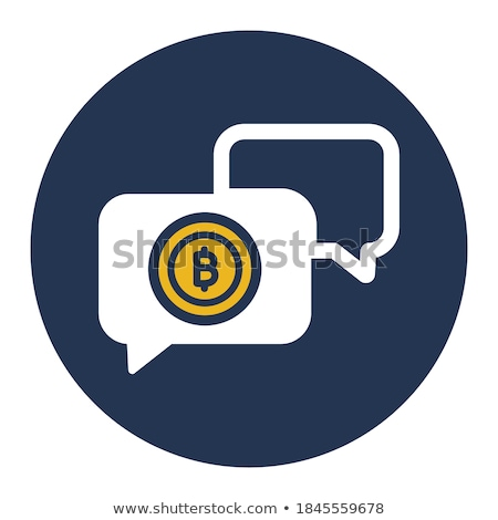 bitcoin chat icon stock photo © wad