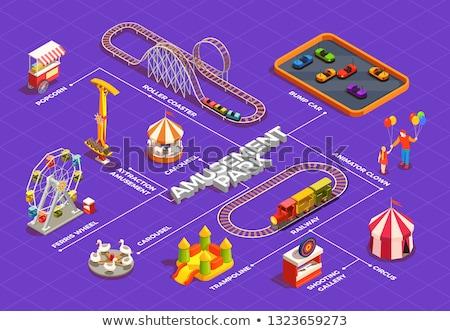 Amusement park isometric 3D elements Stock photo © studioworkstock