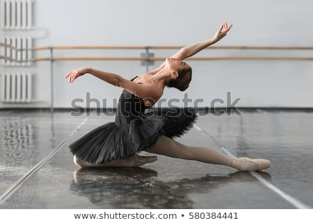 Ballet dancer stretching at barre Stock photo © IS2