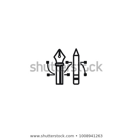 Pencil and Pen Tool icon. Drawing tools symbol. Badge, label for design agency, freelancers. Stock i Stock photo © JeksonGraphics