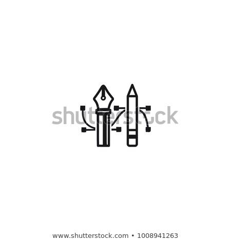 Kalem kalem araç ikon çizim araçları Stok fotoğraf © JeksonGraphics