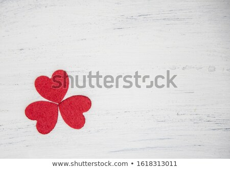Three red hearts forming a clover leaf Stock photo © wavebreak_media