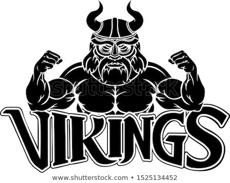 rajz · mérges · viking · férfi · néz - stock fotó © krisdog
