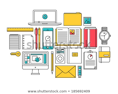 Stock photo: Document paper outline icon. isolated note paper icon in thin line style for graphic and web design.