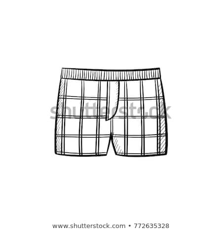 мужчины · шорты · эскиз · икона · вектора · изолированный - Сток-фото © rastudio