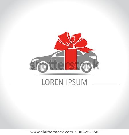 karácsony · házhozszállítás · autó · kép · kalap · személy - stock fotó © maryvalery