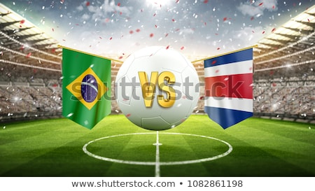 Futebol combinar Brasil vs Costa Rica futebol Foto stock © Zerbor