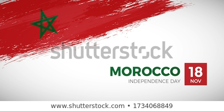 モロッコ フラグ 国 標準 バナー 背景 ストックフォト © romvo