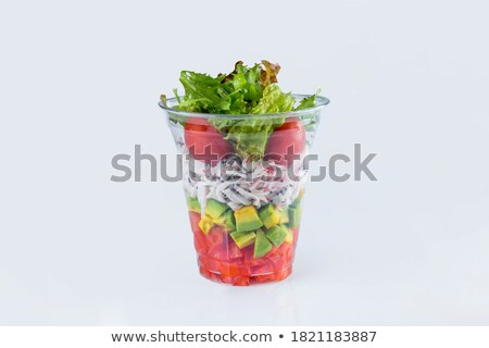 Mixed Salad inside a Glass Stock photo © Francesco83