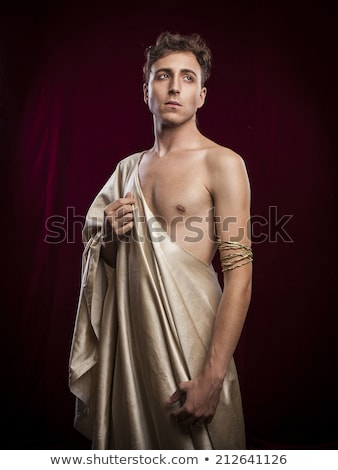 Man Roman Emperor Costume Stock photo © lenm