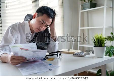 Zakenman triest sympathie geïsoleerd witte business Stockfoto © lisafx