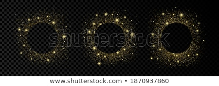 White Banner With Golden Confetti Transparent Background Stock photo © barbaliss