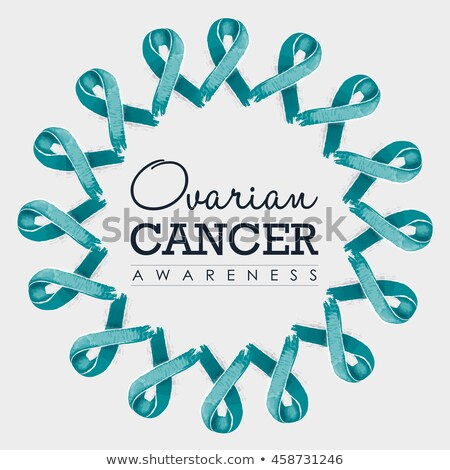 Ovarian Cancer Awareness Symbol Drawn On Woman's Hand Stock photo © AndreyPopov