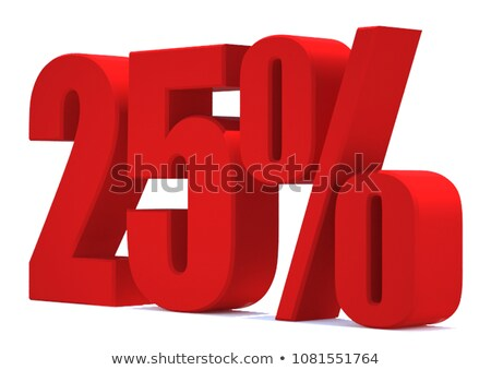 Zdjęcia stock: W · górę · 25 · procent · sprzedaży · banner · biały