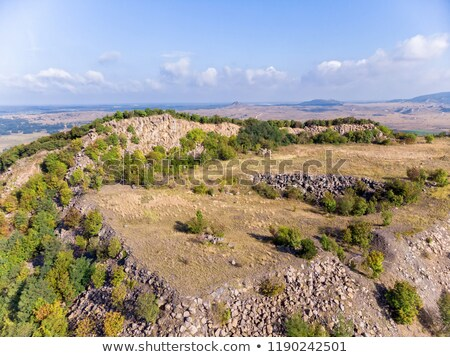 Stock photo: Aerial picture from a old basalt mine in Hungary, village Zalahalap.