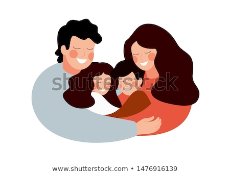 アジア 家族 お父さん ママ 娘 漫画 ストックフォト © orensila