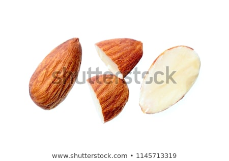 Organisch amandelen geheel lepel groep Stockfoto © bdspn