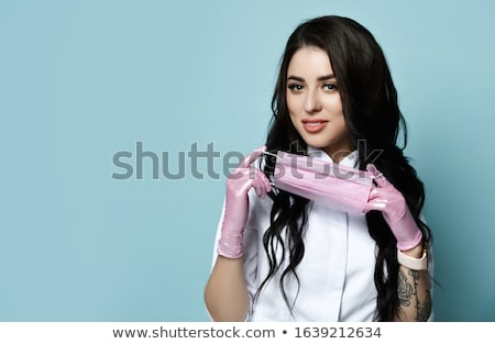 mooie · seksueel · brunette · meisje - stockfoto © acidgrey