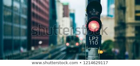 Panoramiczny widoku kolej żelazna światłach Chicago USA Zdjęcia stock © vwalakte