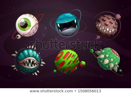 Angry Cartoon Asteroid Stock photo © cthoman