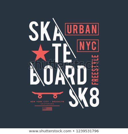 Skateboarding Freestyle New York t-shirt graphic design. Vector Stock photo © Andrei_